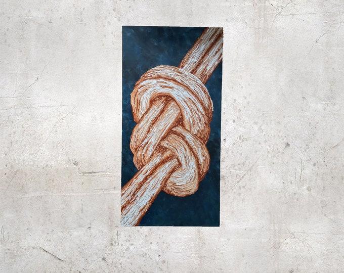 """ORIGINAL Painting - """"The Knot"""" - rock climbing"""