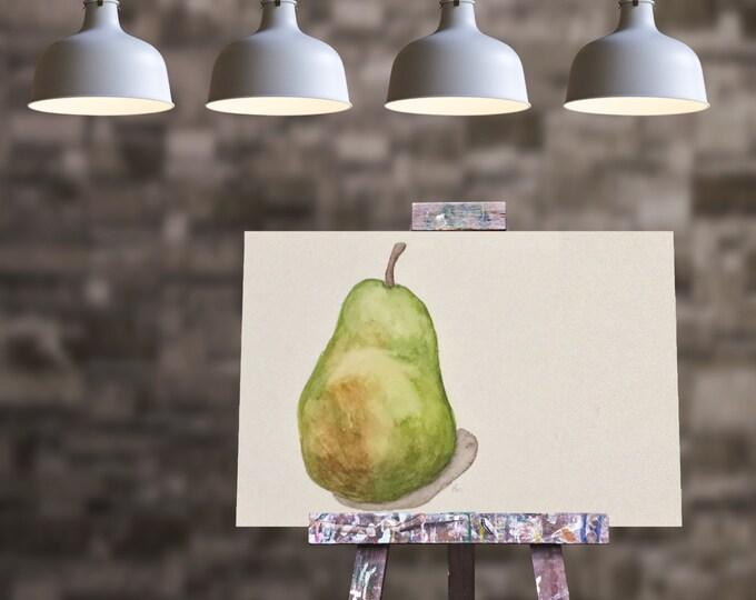 """ORIGINAL Painting - """"Pear III"""" - watercolor"""