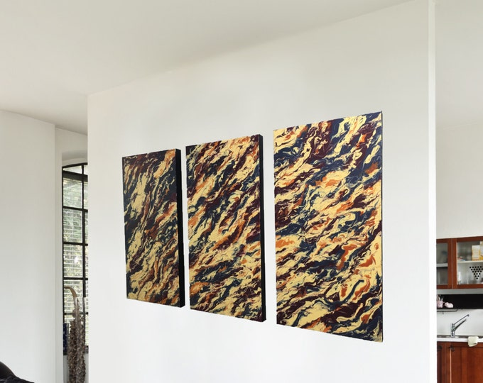"""HUGE ORIGINAL Painting - """"Continuity"""" - abstract acrylic painting - experimental - inventive techniques"""