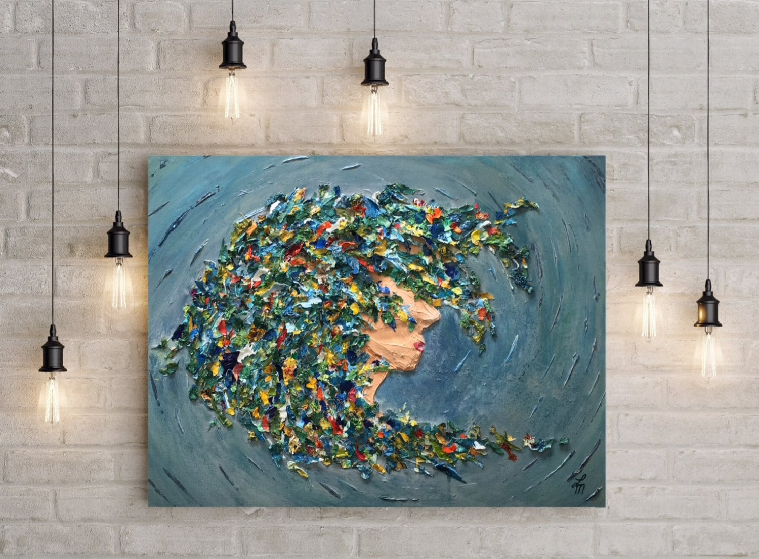 ORIGINAL Painting One with the Sea abstract acrylic painting