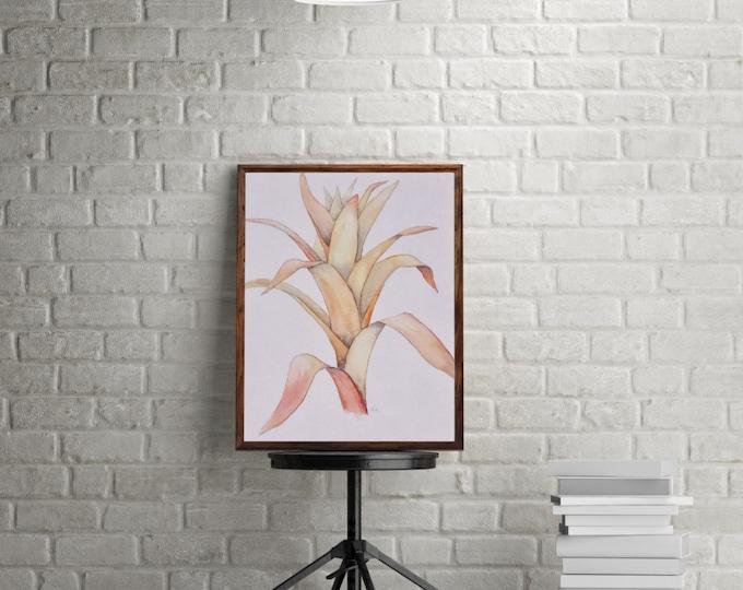 "ORIGINAL Painting - ""Scarlet Star"" - watercolor - tropical flower - botanical"