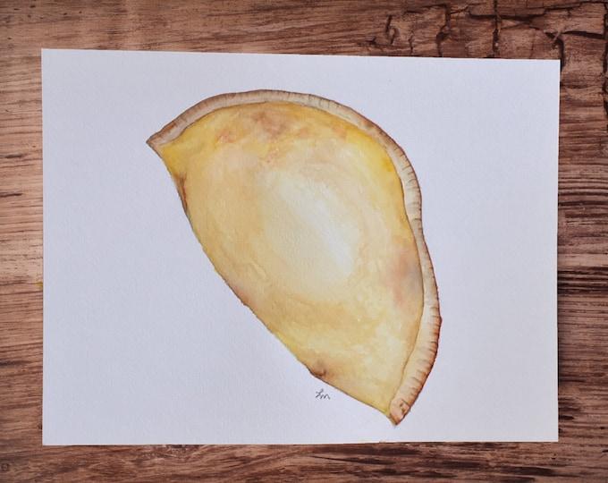 """ORIGINAL Painting - """"Empanada"""" - watercolor"""