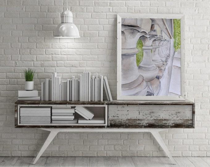 """ORIGINAL Painting - """"Central Park Bridge"""" - watercolor"""