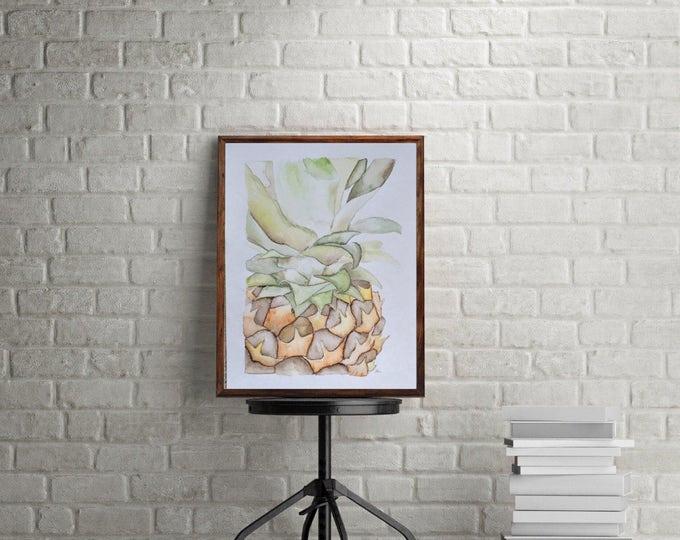 "ORIGINAL Painting - ""Pineapple II"" - watercolor"