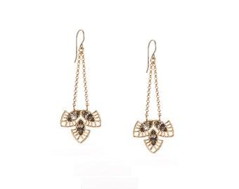 Boho Earrings - Boho Chic Earrings - Bohemian Earrings - Bohemian Dangle Earrings -  handmade jewelry