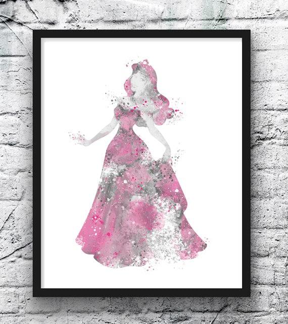 Prints or Canvas Wall Art Decor Cinderella Princess Kids Bedroom Baby Nursery
