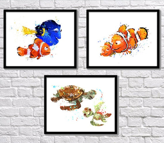 Finding Nemo Dory /& Marlin Giclee Canvas Picture Poster Art