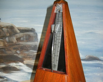 Vintage French Wooden  Maelzel Paquet French Metronome Works Great Sound