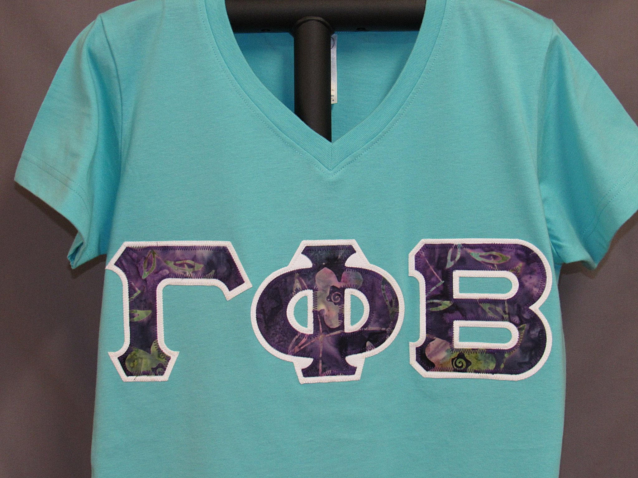 gamma phi beta final clearance 30 off orig price v neck shirt size ladies small only one available sorority double stitch letters