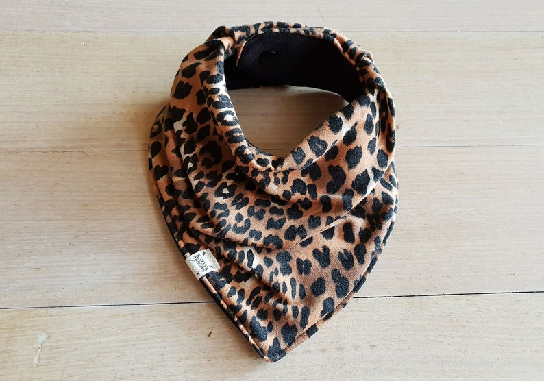Leopard print dribble bib bandana baby neckerchief all sizes