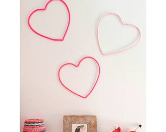 Heart Home Decor Wall Art Silhouette Love Wire 12 Girls Room Deco