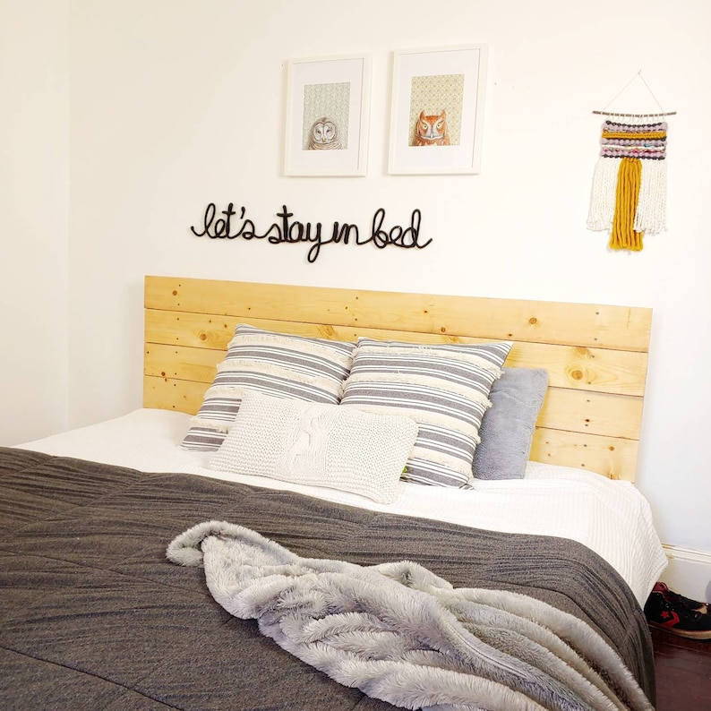 Lets Stay In Bed Sign Bedroom Sign Bedroom Decor Above Etsy