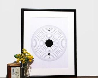Solar System Space Print