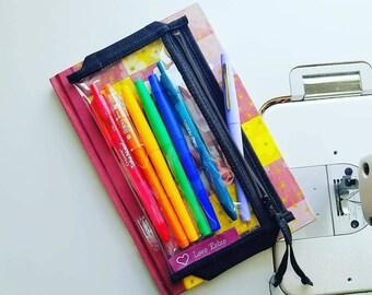 JournalPlanner Accessory, Pen and Pencil Case Dollbirdies JournalPlanner Pocket Pouch