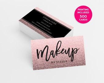Makeup Artist Business Cards Etsy