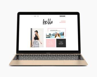 Premade Shop Website Template Design Wix Theme Fashion Ecommerce Website Online Store Custom Blog Website Boutique