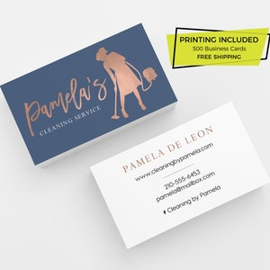 Cleaning Loyalty Card 500 Printed Business Cards Custom Etsy