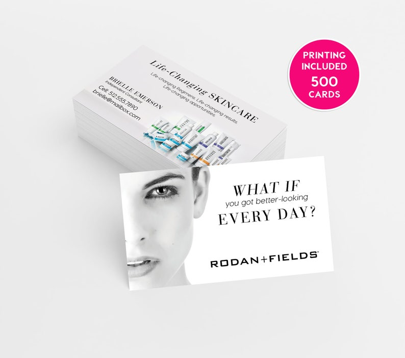 Rodan And Fields Business Card Template | Rodan Fields Consultant 500 Business Cards Printed Business Etsy