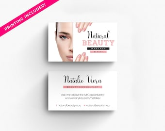 Makeup artist business cards etsy mary kay pink black makeup artist 500 business cards printed business card template personalized calling colourmoves