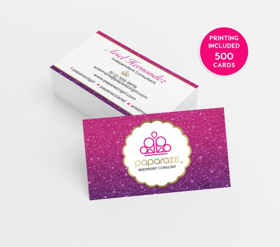 Paparazzi Jewelry Business Card Design 500 Printed Business Etsy