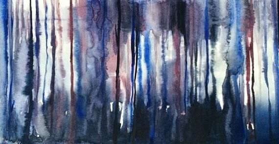 Aquarell Abstrakte Malerei Moderne Malerei Moderne Etsy