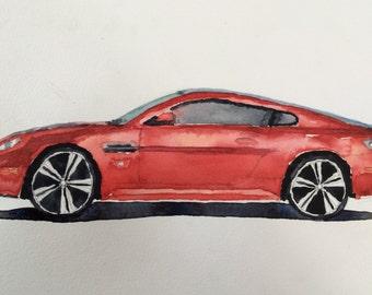 Aston Martin, Aston Martin V12 Vantage, Aston, car watercolor, car painting, car art, child artist, child art, Exotic car, British car