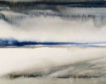 Abstract landscape, abstract watercolor, abstract painting, abstract art, contemporary painting, minimal painting, minimal watercolor