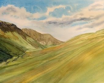 Lake District, Lakeland Valley, Cumbria, English landscape, valley, hills, English mountains, English countryside, England, Britain, UK