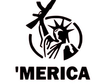 Gun Control Merica Decal (approximately 5x5 '')