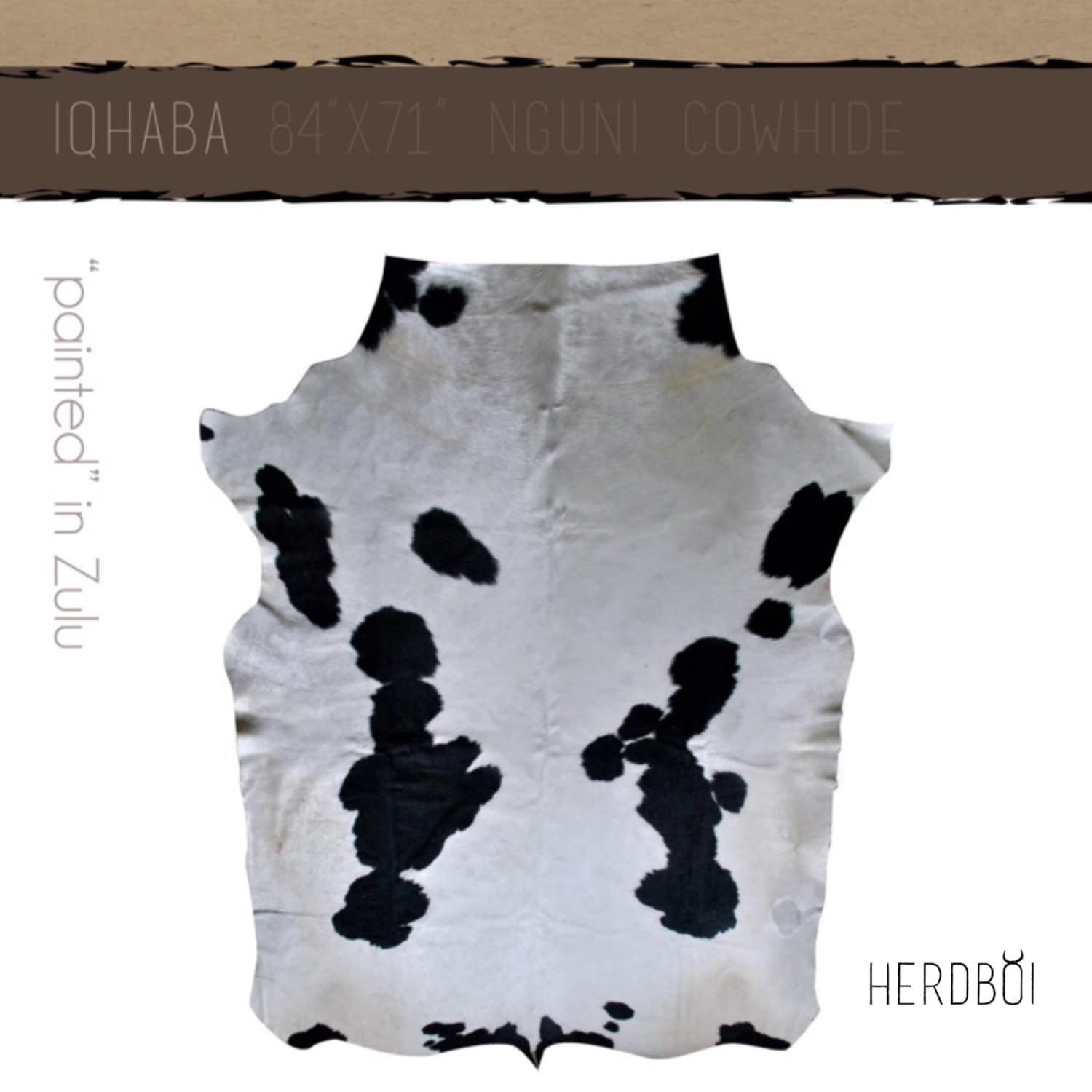 Black And White Extra Large Rug: Cowhide Rug Extra-large Black And White Nguni Cow Hide