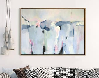 Abstract Print, Abstract Landscape, Blue Grey Abstract Print, Giclee Print , Fine art Print , Modern Art, Large Abstract, Wall Decor