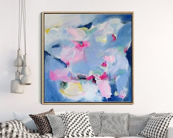 Original Art, Blue Abstract Painting, Abstract Canvas Painting, Modern Art, Contemporary Art, Abstract Wall Art, Wall Decor,  FREE SHIPPING