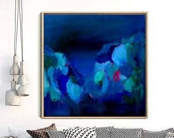 abstract canvas art etsy