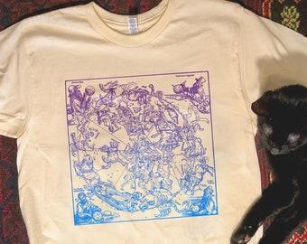 Astrology Shirt, Zodiac signs shirt, Celestial T Shirt, Cosmos shirt, Bohemian tee, Vintage Aesthetic Shirt, Handmade tee