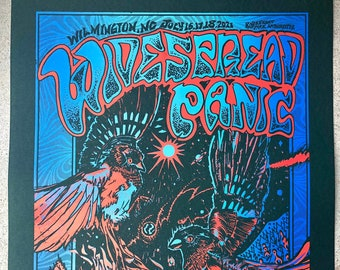 Widespread Panic Poster, Wilmington 2021 Official Hand-Printed Gigposter