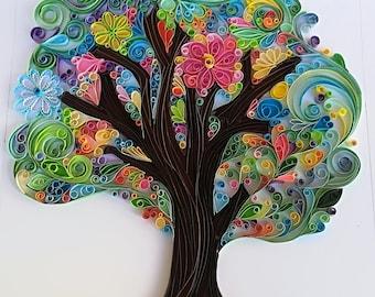 tree quilling paper wallpaperhomedecor family tree wedding etsy rh etsy com