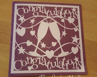 Congratulations Paper Cutting Template - Commercial Use