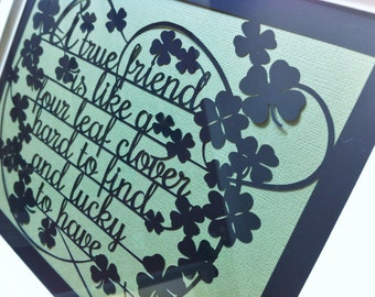 Friendship Quote Paper Cut Template - Personal And Commercial Use PDF