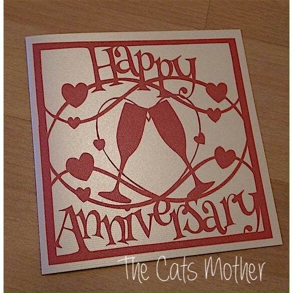 Commercial Use Happy 1st Anniversary Paper Cutting Template
