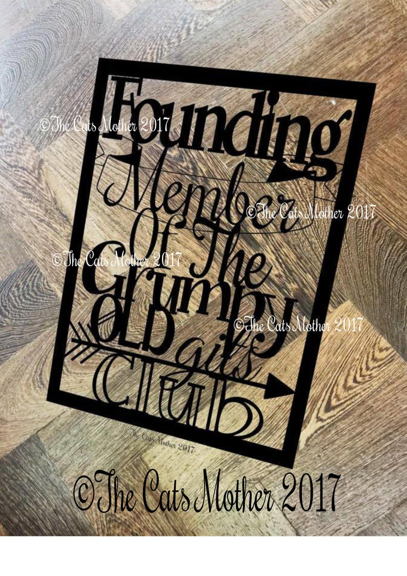 Founding Member Grumpy Git Club - Paper Cutting Template  Personal And  Commercial Use PDF