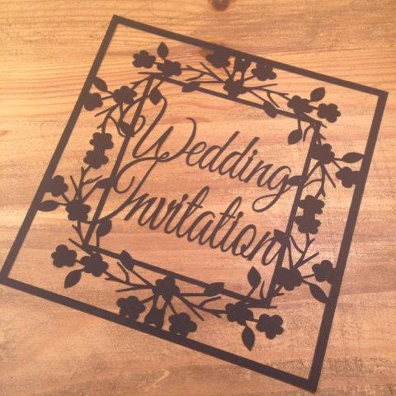 Wedding Invitation Paper Cutting Template