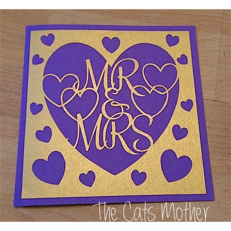 Mr and Mrs Paper Cutting Template Commercial Use