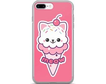 Kawaii Ice Cream Kitty iPhone 7 & 7 Plus   Cat Phone Cases