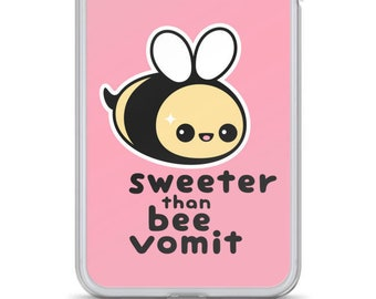 15ab9fc528 Funny iPhone Cases | Kawaii Phone Case | Bee Vomit | iPhone 6/6s, 6 Plus/6S  Plus, 7/8, 7 Plus/8 Plus, X/XS, XS Max, and XR