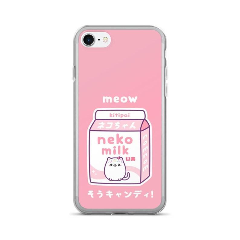 separation shoes 8e0d2 eebeb Kawaii Pink Cat Milk iPhone Case | Neko Milk | 6 Plus, 6s Plus, 6, 6s, 7  Plus, 8 Plus, 7, 8, X, XS, XR, XS Max