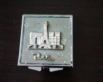 Small Parisian Mirror Compact, Compact for Purse