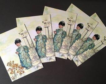 Postcard, Kiyoko at the Shrine, Multibuy Option 5 for 3.50