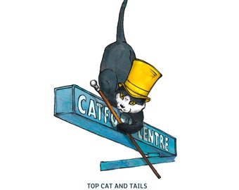 SINGLE CARD: 'Top Cat & Tails', Catford, London, SE6, Catford Centre Cat