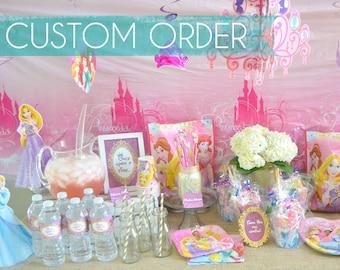CUSTOM Disney Princess Party Decor, Printable Package