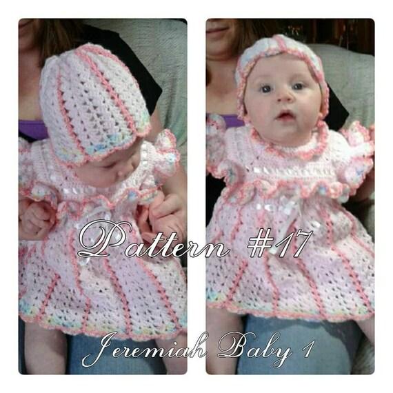 Crochet Pattern Baby Dress Pattern Baby Hat Pattern Baby Girl Etsy